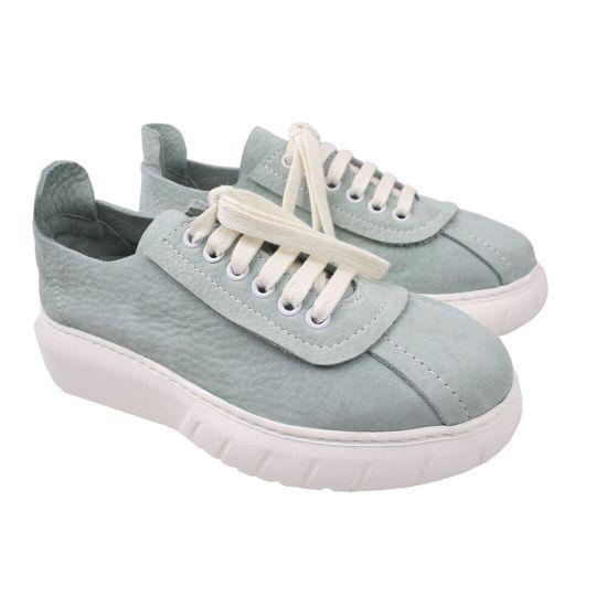 Туфлі жіночі Нубук, колір блакитний