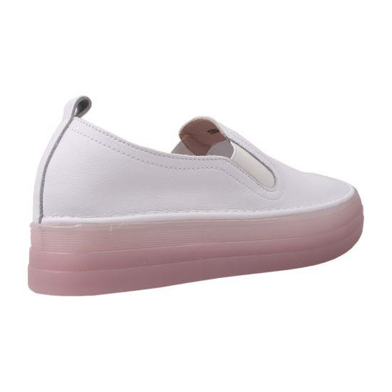Туфлі спорт жіночі Vensi натуральна шкіра, колір білий