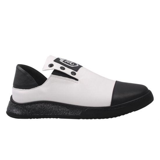 Туфлі спорт жіночі Euromoda натуральна шкіра, колір білий