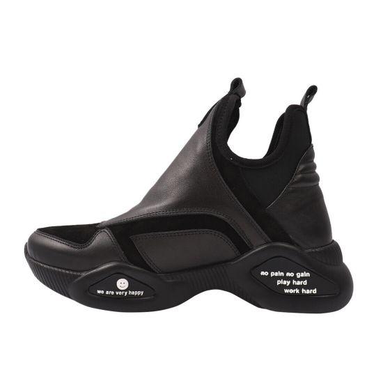 Кросівки жіночі Euromoda натуральна шкіра, колір чорний