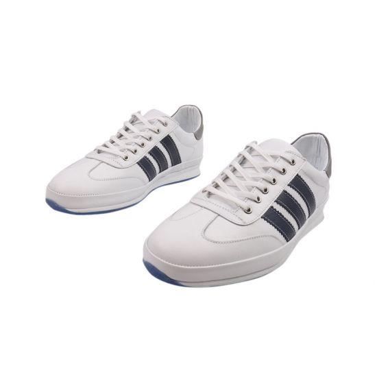 Кросівки чоловічі з натуральної шкіри, на низькому ходу, на шнурівці, колір білий, Туреччина Effort