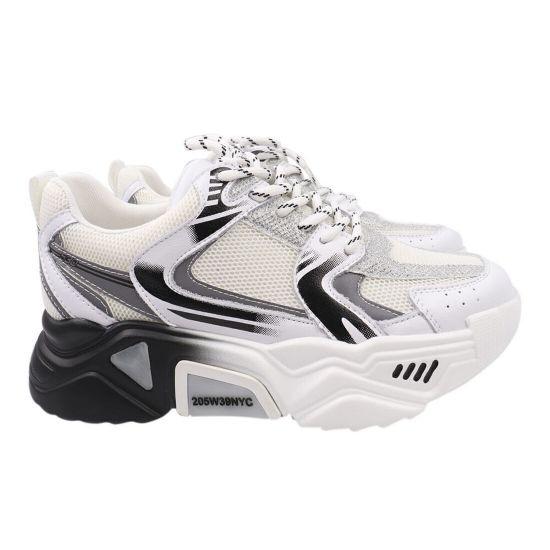 Кросівки жіночі з натуральної шкіри, на низькому ходу, на шнурівці, білі, Farinni