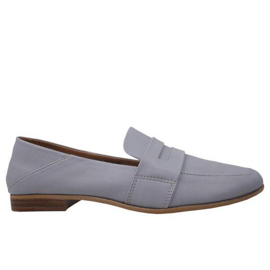 Туфлі на низькому ходу жіночі натуральна шкіра, колір фіолетовий