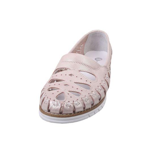 Туфлі комфорт Magnolya шкіра сатин, колір рожевий