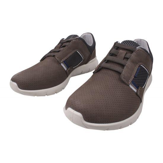 Кросівки чоловічі Нубук, колір сірий