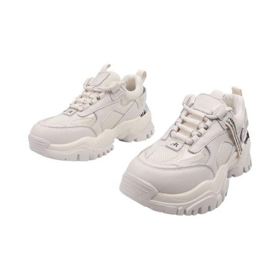 Кросівки жіночі з текстилю, на низькому ходу, на шнурівці, молочні, Li Fexpert