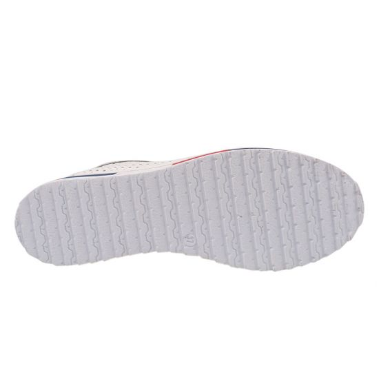Кеди жіночі з натуральної шкіри, на низькому ходу, на шнурівці, білі, Туреччина Trio Trend