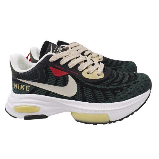 Кросівки чоловічі з текстилю, на низькому ходу, на шнурівці, колір зелений, Nike