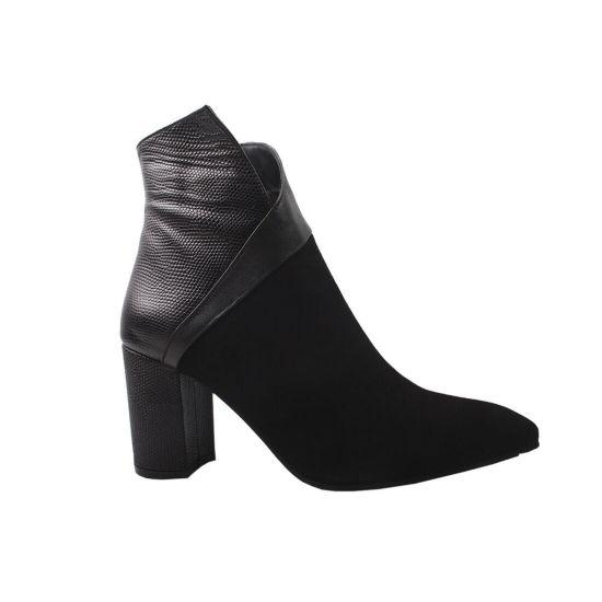 Ботильйони жіночі Romanelli Натуральна замша, колір чорний