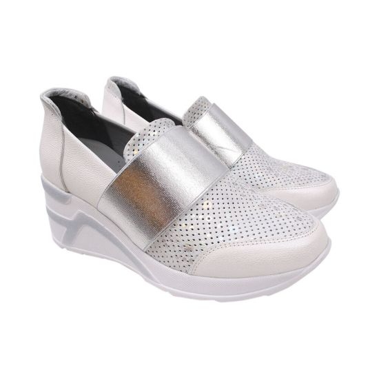 Туфлі жіночі Aquamarin натуральна шкіра, колір білий
