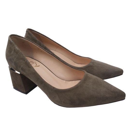Туфлі жіночі Aquamarin Натуральна замша, колір хакі