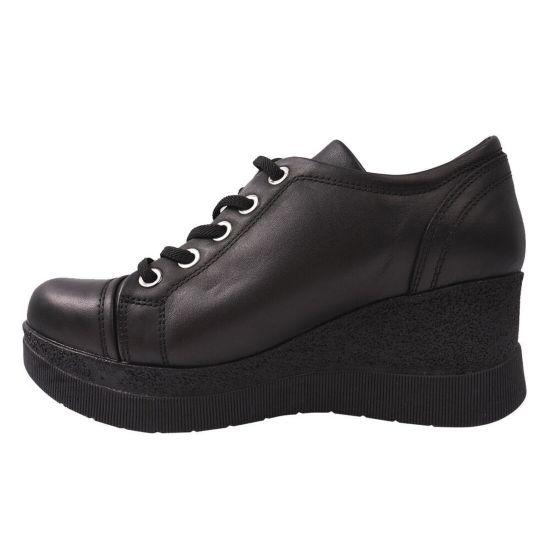 Туфлі комфорт жіночі Mumin Dulun натуральна шкіра, колір чорний
