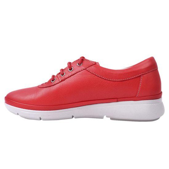 Туфлі комфорт жіночі Trio Trend натуральна шкіра, колір червоний