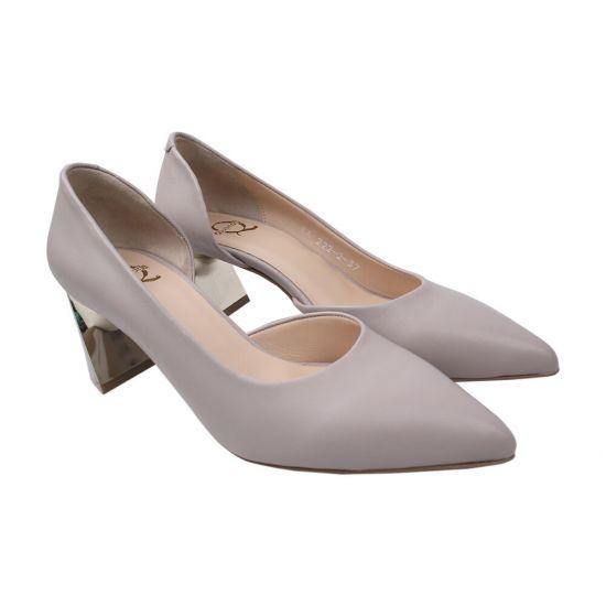 Туфлі жіночі Aquamarin натуральна шкіра, колір сірий