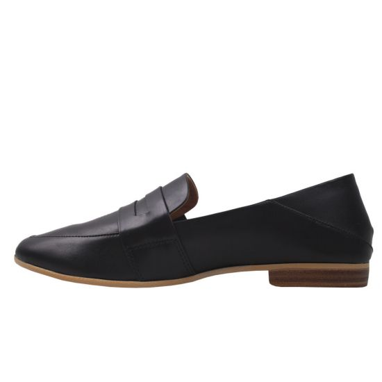 Туфлі жіночі натуральна шкіра, колір чорний