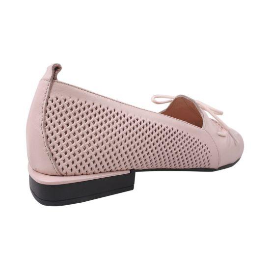 Туфлі жіночі натуральна шкіра, колір рожевий