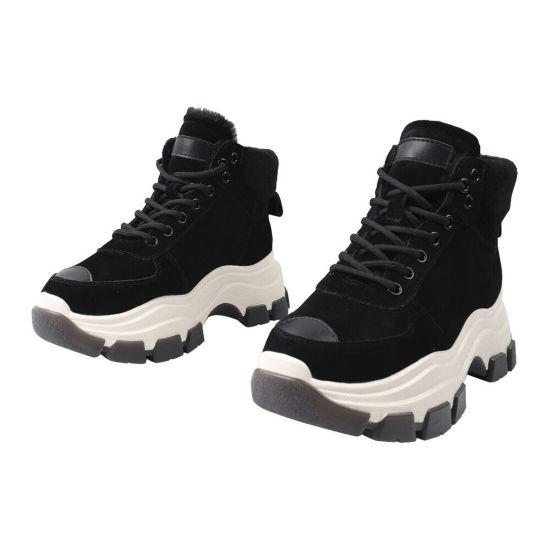 Кросівки жіночі Berkonty Натуральна замша, колір чорний 287-21ZHS
