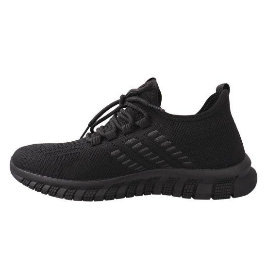 Кросівки чоловічі з текстилю, на низькому ходу, на шнурівці, чорні, Berisstini