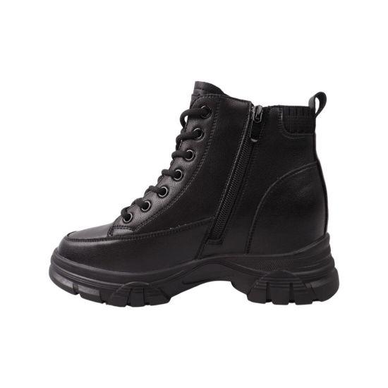 Ботинки женские Vikonty черные натуральная кожа 274-21DHC