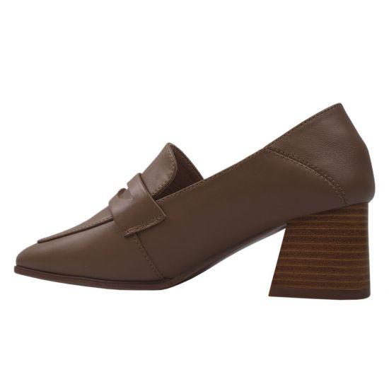 Туфлі жіночі Berkonty натуральна шкіра, колір бежевий