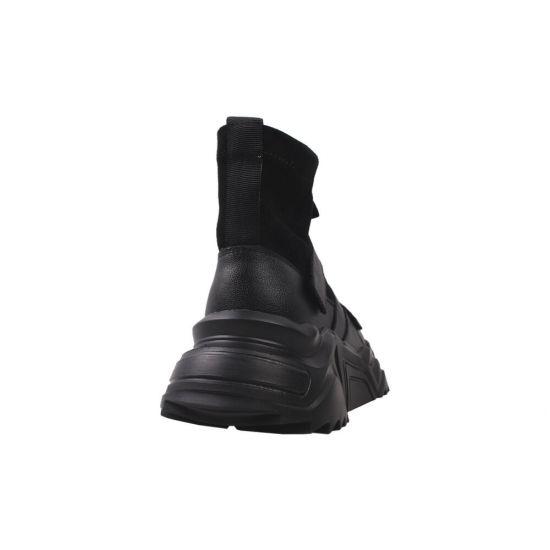 Кросівки жіночі Vikonty еко шкіра, колір чорний 89-20DHC