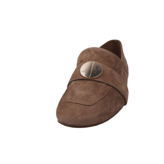 Туфлі жіночі Натуральна замша, колір коричневий