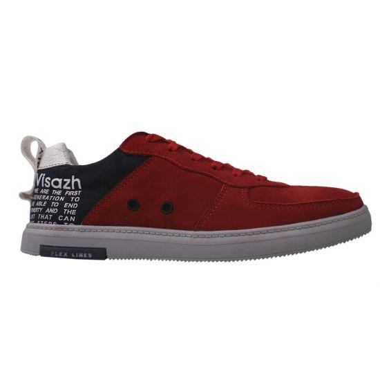 Туфлі спорт чоловічі Нубук, колір червоний