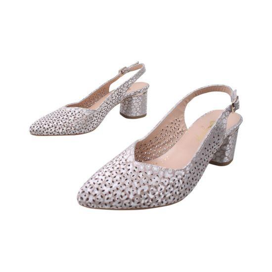 Туфлі жіночі Magnolya Натуральна замша, колір перламутр