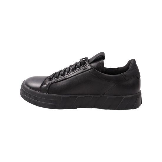 Кеди чоловічі Maxus shoes чорні натуральна шкіра