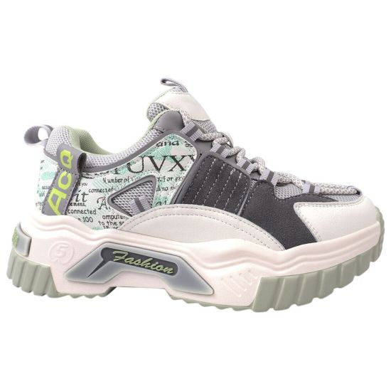 Кросівки жіночі з натуральної шкіри, на платформі, на шнурівці, білі, Li Fexpert