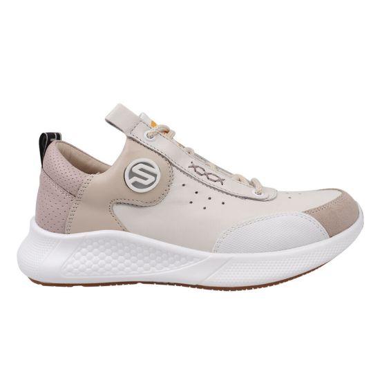 Кросівки жіночі з натуральної шкіри, на низькому ходу, на шнурівці, колір бежевий, Carlo Pachini
