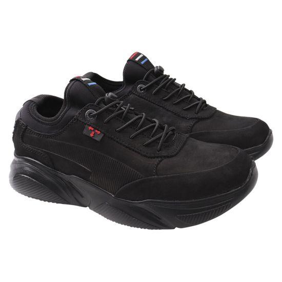 Туфлі комфорт чоловічі Konors Нубук, колір чорний