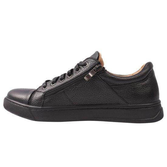 Туфлі комфорт чоловічі Flamanti натуральна шкіра, колір чорний