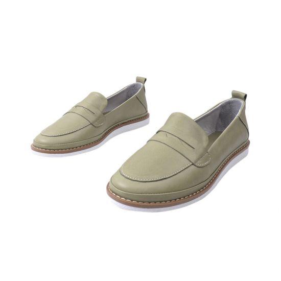 Туфлі жіночі з натуральної шкіри, на низькому ходу, колір зелений, Туреччина Mario Muzi
