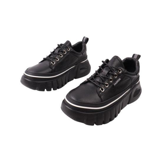 Кросівки жіночі Li Fexpert чорні натуральна шкіра