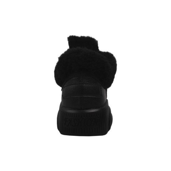 Кросівки жіночі Vikonty еко шкіра, колір чорний