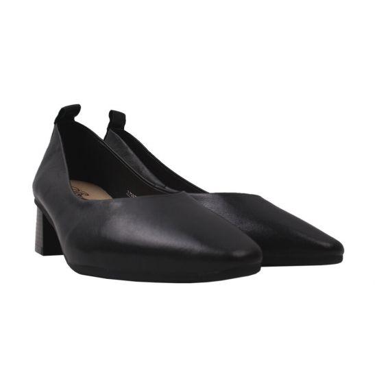 Туфлі на підборах жіночі Berkonty натуральна шкіра, колір чорний