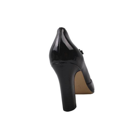 Туфлі жіночі Angelo Vani Лакова натуральна шкіра, колір чорний