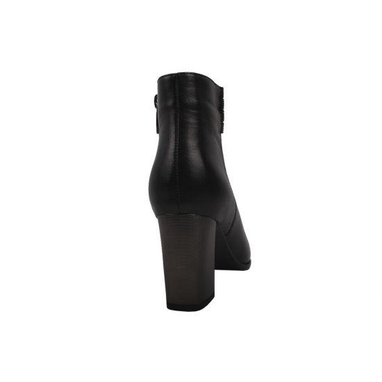 Ботильйони жіночі Polann натуральна шкіра, колір чорний