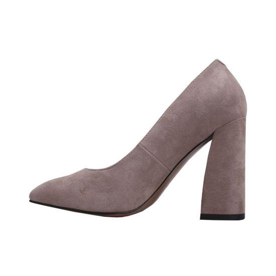 Туфлі жіночі Натуральна замша, колір пудра