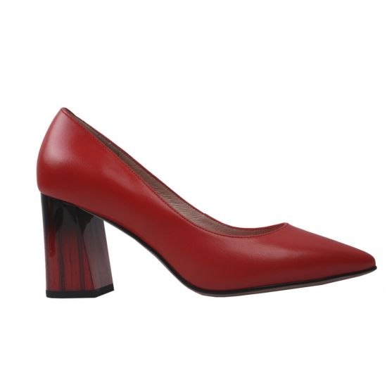 Туфлі жіночі Geronea натуральна шкіра, колір червоний