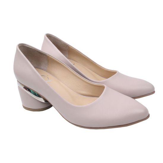 Туфлі жіночі Aquamarin натуральна шкіра, колір бежевий