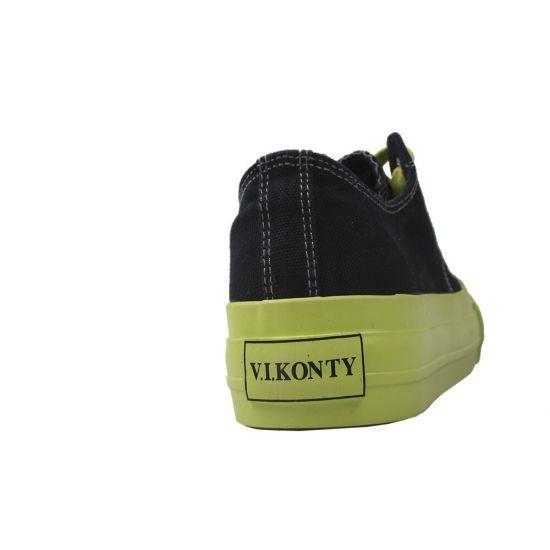 Кеди жіночі Vikonty Текстиль, колір чорний