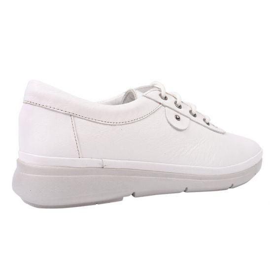 Туфлі на шнурівці жіночі Trio Trend натуральна шкіра, колір білий