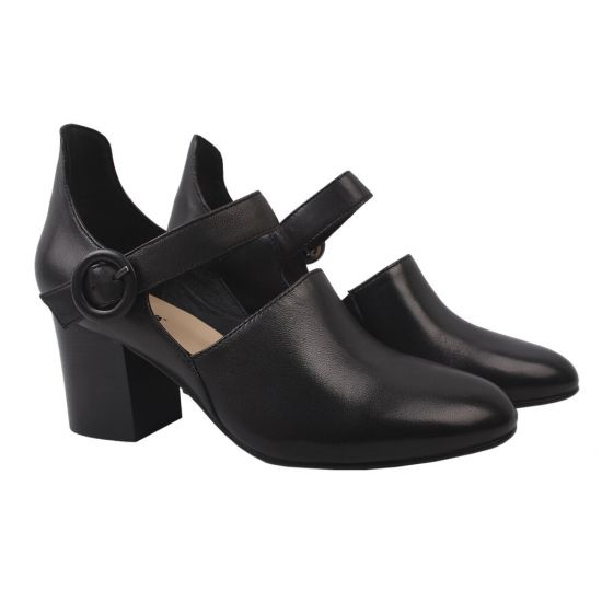 Туфлі Big Rope натуральна шкіра, колір чорний