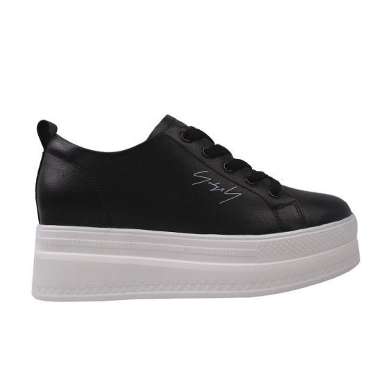 Туфлі спорт жіночі Berkonty натуральна шкіра, колір чорний