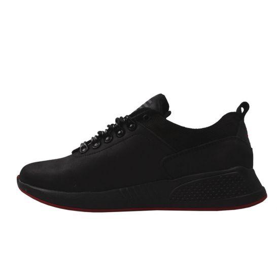 Кросівки чоловічі натуральна шкіра, колір чорний