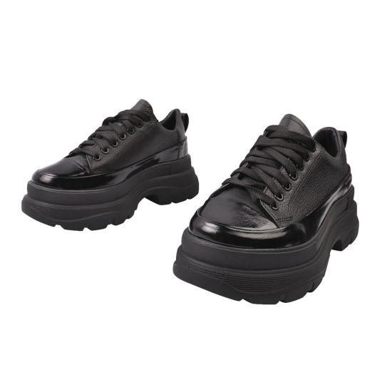 Туфлі спорт жіночі Masheros натуральна шкіра, колір чорний