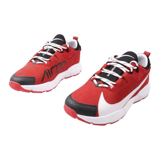 Кросівки чоловічі з натуральної шкіри, на низькому ходу, на шнурівці, колір червоний, Україна MDK