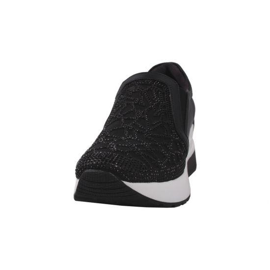 Кросівки жіночі натуральна шкіра, колір чорний